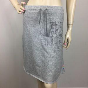 Nike Running Marathon Map Grey Skirt XS 0-2 RARE!